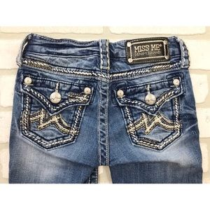 Miss Me Girls Flap Pocket Bermuda Jean Shorts 8